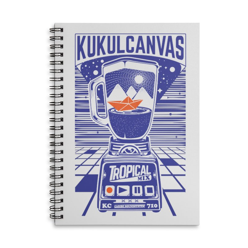 TROPICAL MIX Accessories Lined Spiral Notebook by kukulcanvas's Artist Shop