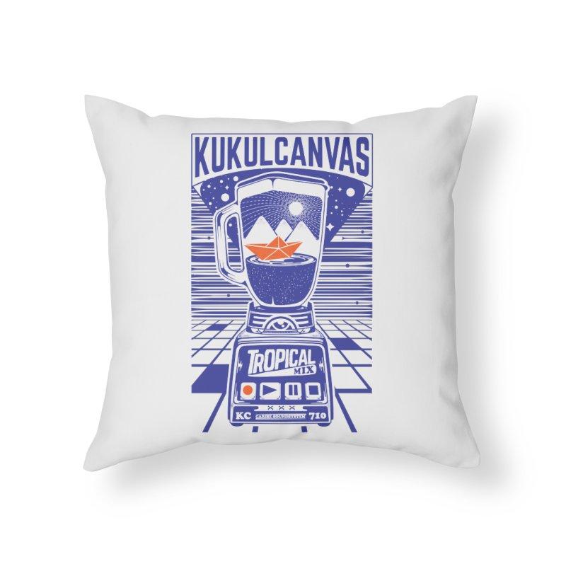 TROPICAL MIX Home Throw Pillow by kukulcanvas's Artist Shop