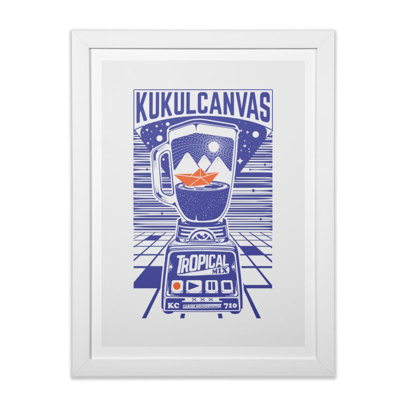 TROPICAL MIX Home Framed Fine Art Print by kukulcanvas's Artist Shop
