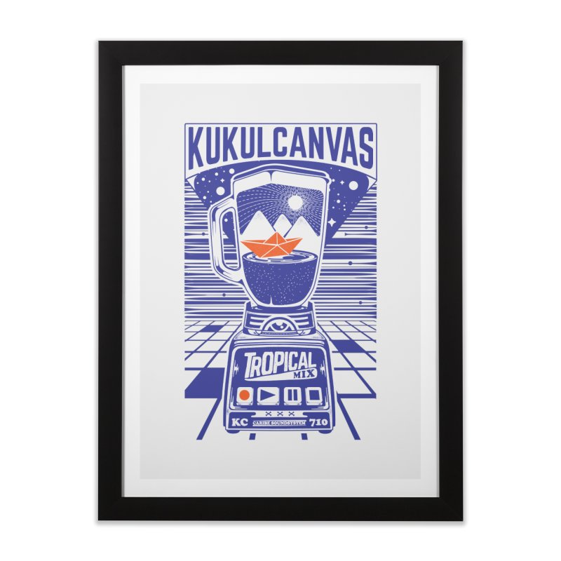 TROPICAL MIX Home Framed Fine Art Print by kukulcanvas's Artist Shop