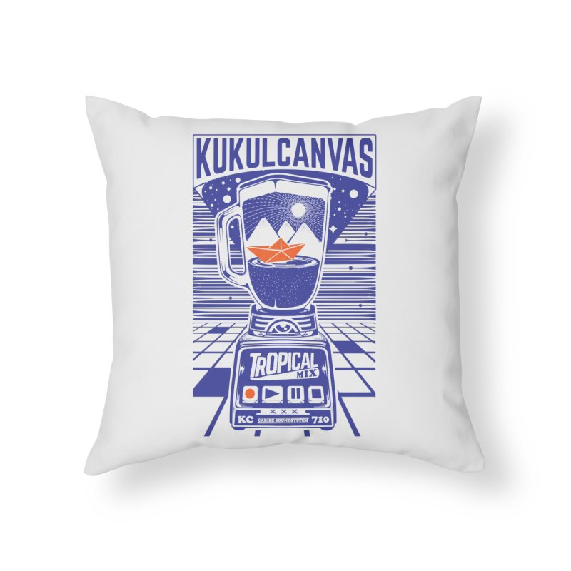 TROPICAL MIX Home Throw Pillow by kukulcanvas's Artist Shop