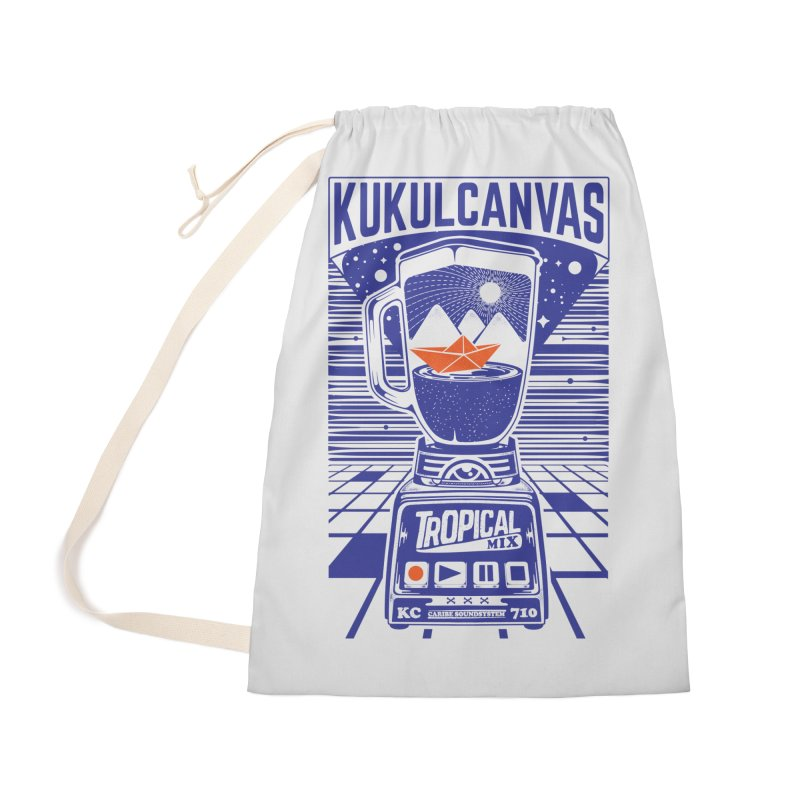 TROPICAL MIX Accessories Bag by kukulcanvas's Artist Shop