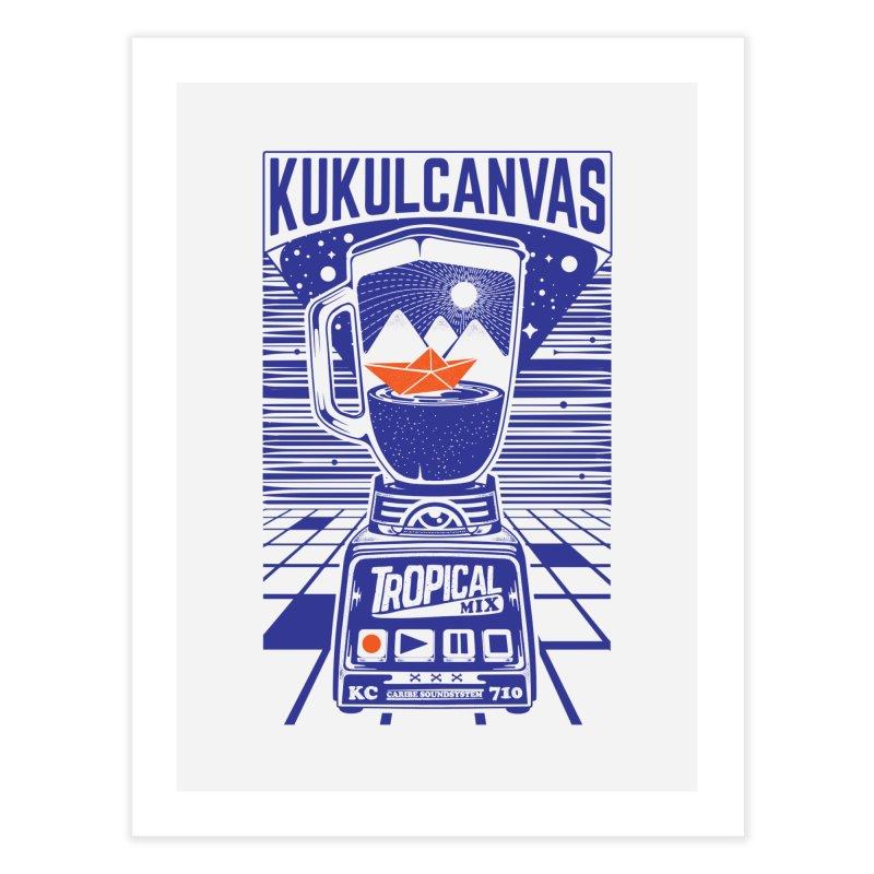 TROPICAL MIX Home Fine Art Print by kukulcanvas's Artist Shop