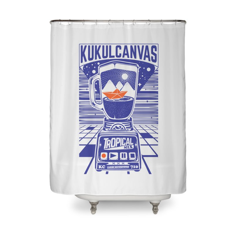 TROPICAL MIX Home Shower Curtain by kukulcanvas's Artist Shop