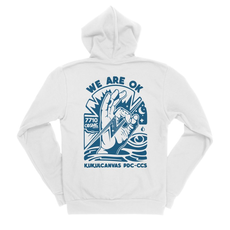 WE ARE OK Men's Sponge Fleece Zip-Up Hoody by kukulcanvas's Artist Shop