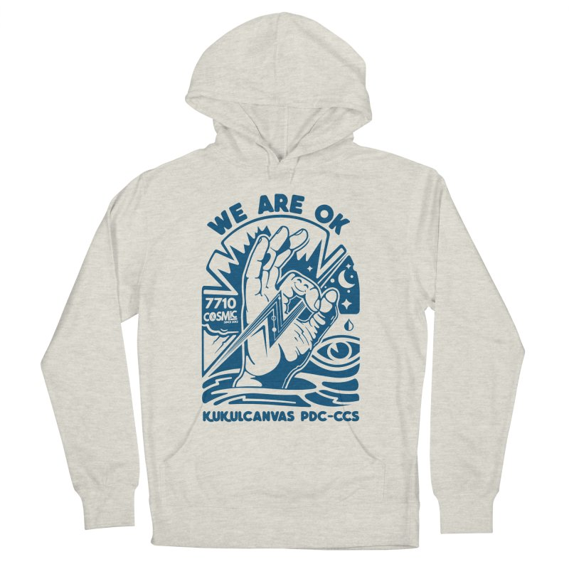 WE ARE OK Women's French Terry Pullover Hoody by kukulcanvas's Artist Shop