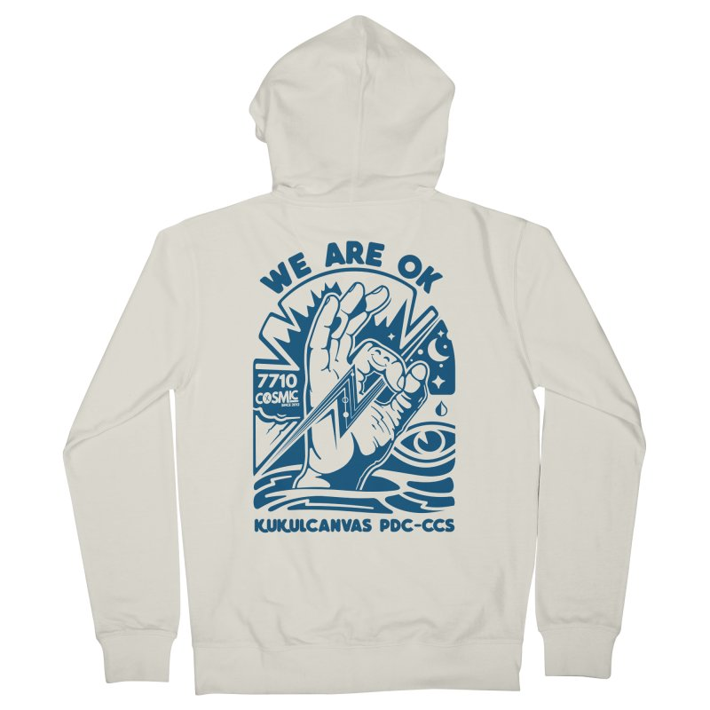 WE ARE OK Men's French Terry Zip-Up Hoody by kukulcanvas's Artist Shop