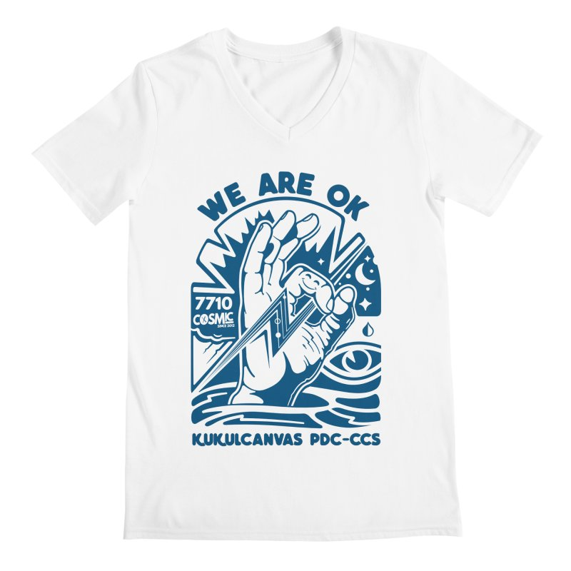 WE ARE OK Men's V-Neck by kukulcanvas's Artist Shop