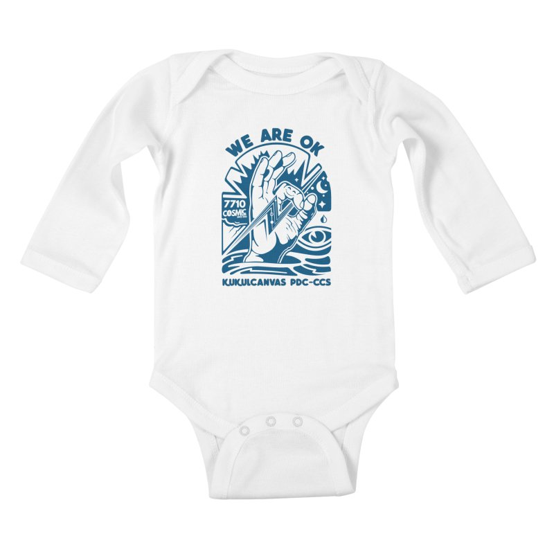 WE ARE OK Kids Baby Longsleeve Bodysuit by kukulcanvas's Artist Shop