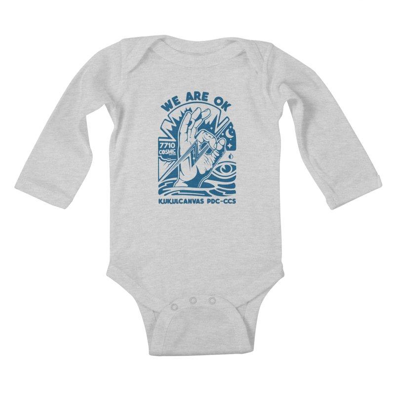 WE ARE OK Kids Baby Longsleeve Bodysuit by kukulcanvas's Artist Shop
