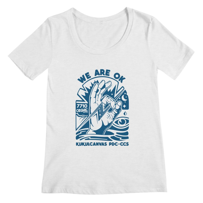 WE ARE OK Women's Regular Scoop Neck by kukulcanvas's Artist Shop