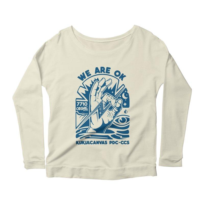 WE ARE OK Women's Scoop Neck Longsleeve T-Shirt by kukulcanvas's Artist Shop