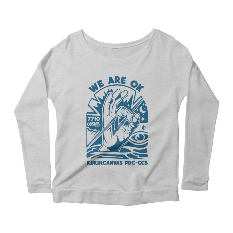 WE ARE OK Women's Scoop Neck Longsleeve T-Shirt by kukulcanvas's Artist Shop