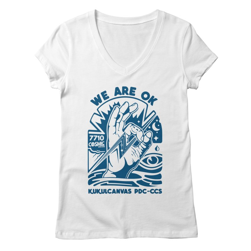 WE ARE OK Women's Regular V-Neck by kukulcanvas's Artist Shop