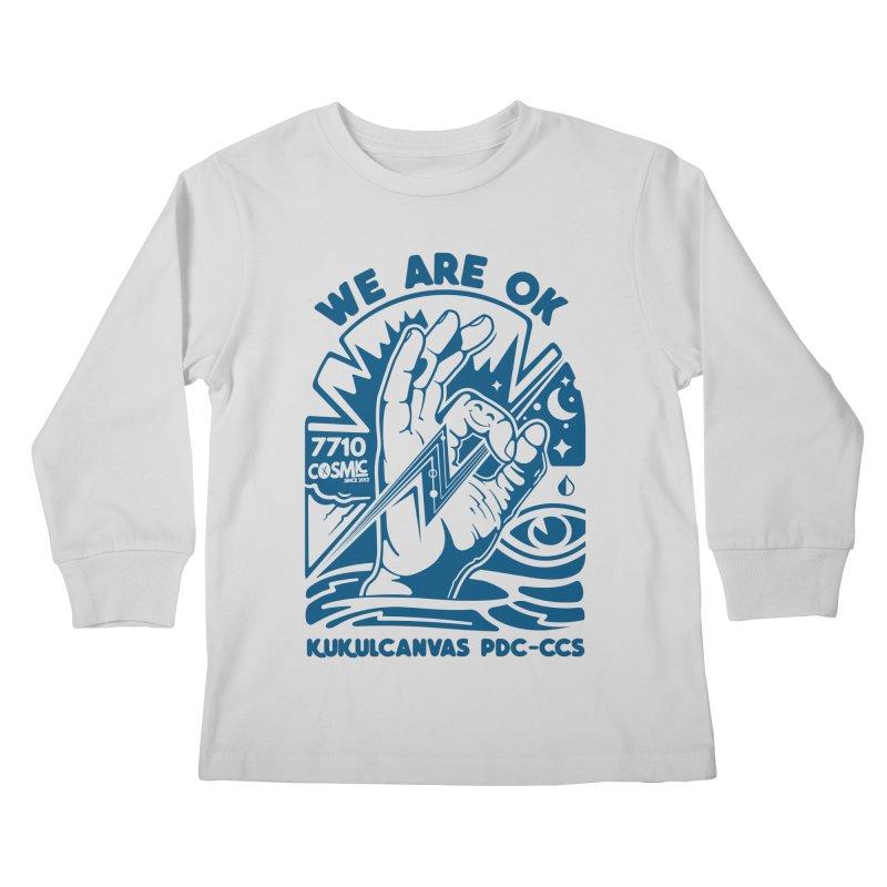 WE ARE OK Kids Longsleeve T-Shirt by kukulcanvas's Artist Shop