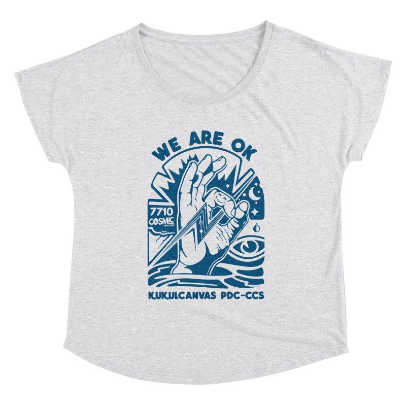 WE ARE OK Women's Scoop Neck by kukulcanvas's Artist Shop