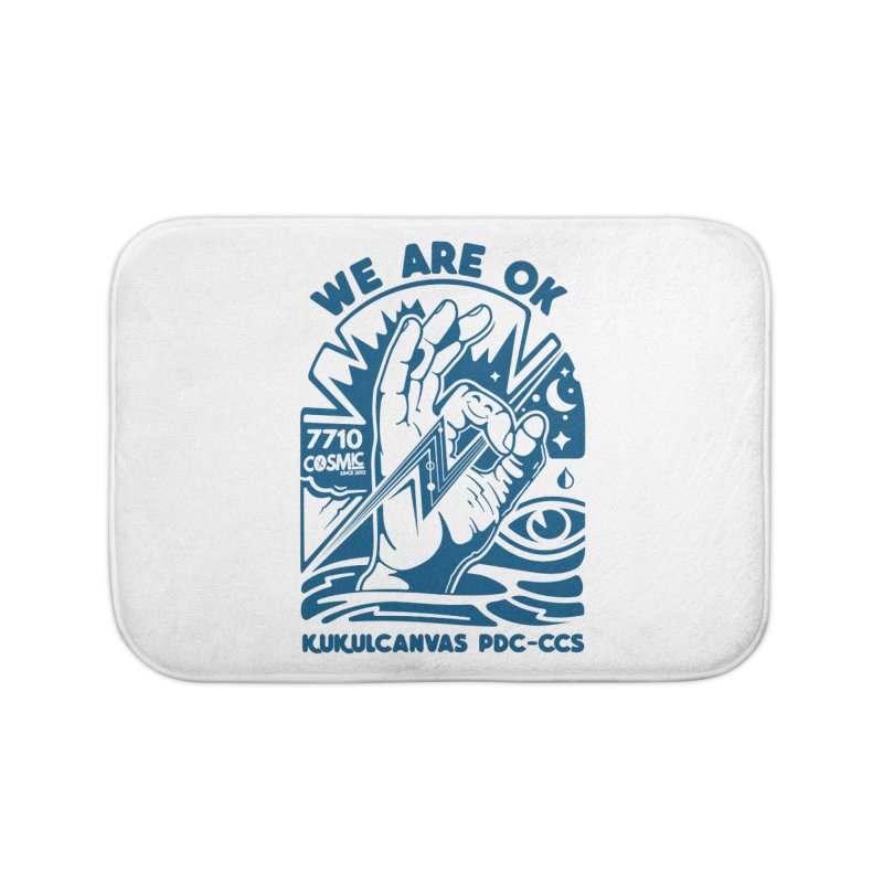 WE ARE OK Home Bath Mat by kukulcanvas's Artist Shop