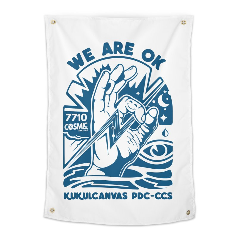 WE ARE OK Home Tapestry by kukulcanvas's Artist Shop
