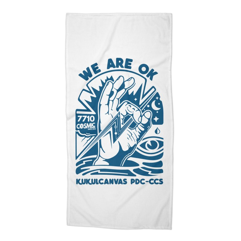 WE ARE OK Accessories Beach Towel by kukulcanvas's Artist Shop