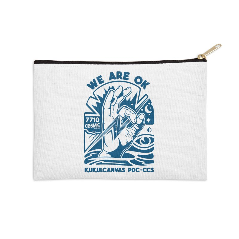 WE ARE OK Accessories Zip Pouch by kukulcanvas's Artist Shop