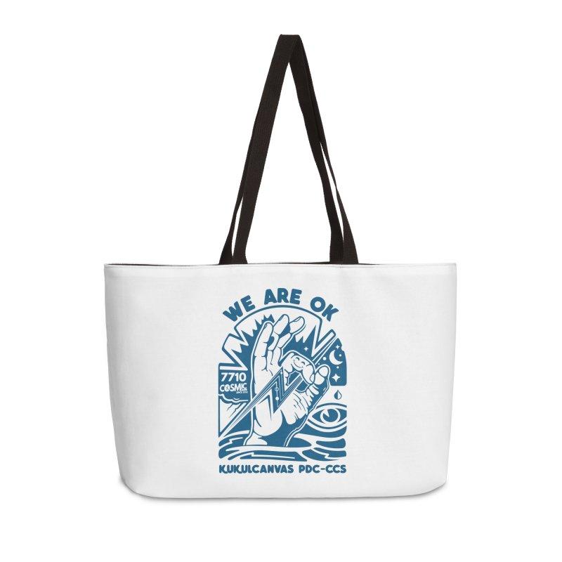 WE ARE OK Accessories Weekender Bag Bag by kukulcanvas's Artist Shop