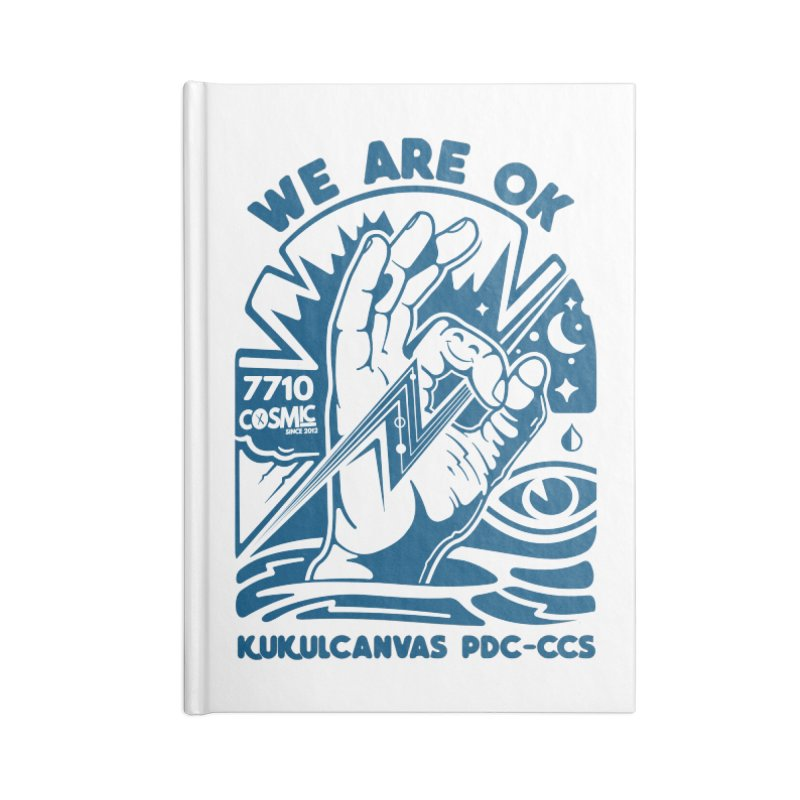 WE ARE OK Accessories Blank Journal Notebook by kukulcanvas's Artist Shop