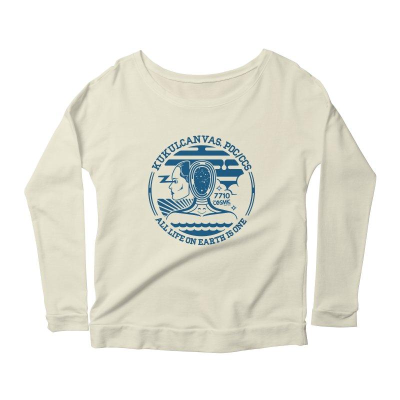 ALL LIFE Women's Scoop Neck Longsleeve T-Shirt by kukulcanvas's Artist Shop