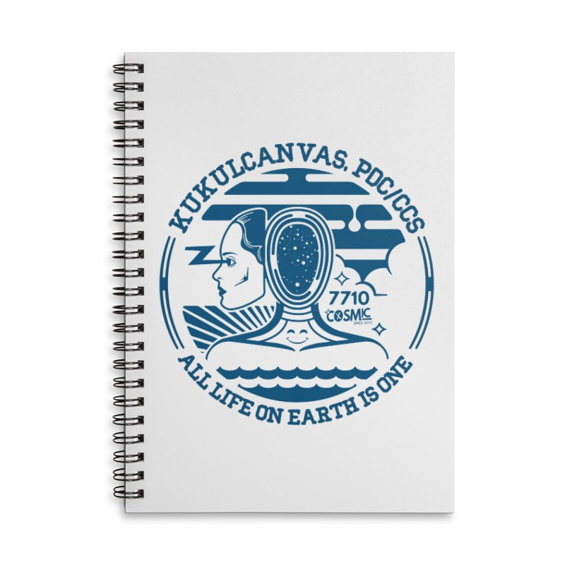 ALL LIFE Accessories Lined Spiral Notebook by kukulcanvas's Artist Shop