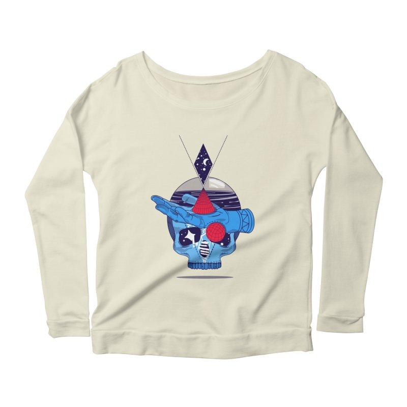 GEOMETRIA SILVESTRE Women's Scoop Neck Longsleeve T-Shirt by kukulcanvas's Artist Shop
