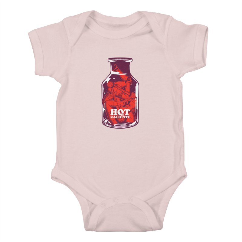 HOT & CALIENTE Kids Baby Bodysuit by kukulcanvas's Artist Shop