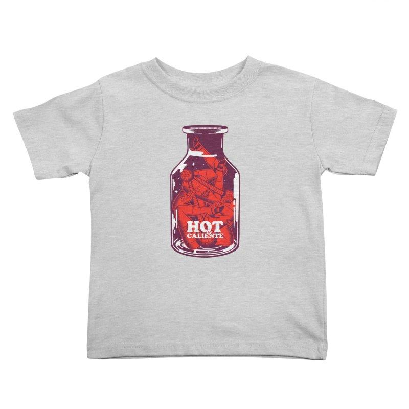 HOT & CALIENTE Kids Toddler T-Shirt by kukulcanvas's Artist Shop