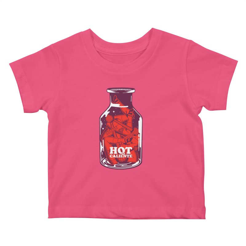 HOT & CALIENTE Kids Baby T-Shirt by kukulcanvas's Artist Shop