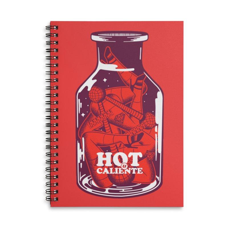 HOT & CALIENTE Accessories Notebook by kukulcanvas's Artist Shop