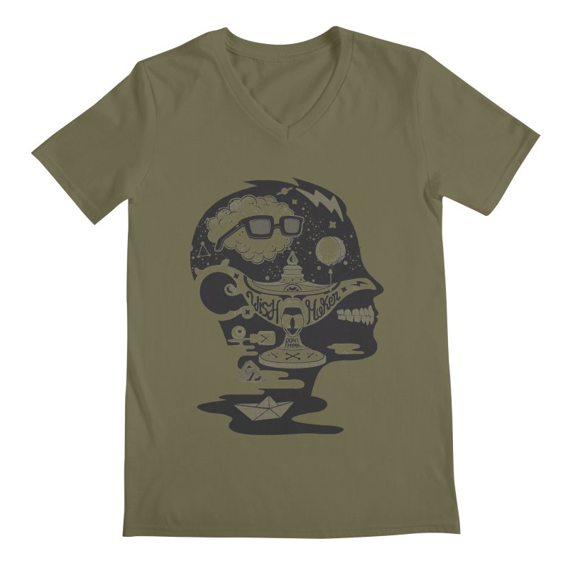 WISH MAKER Men's Regular V-Neck by kukulcanvas's Artist Shop
