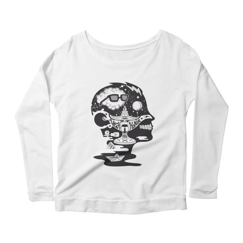 WISH MAKER Women's Scoop Neck Longsleeve T-Shirt by kukulcanvas's Artist Shop