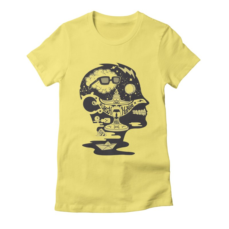 WISH MAKER Women's Fitted T-Shirt by kukulcanvas's Artist Shop
