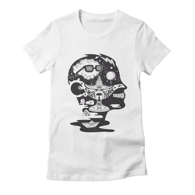 WISH MAKER Women's Fitted T-Shirt by kukulcanvas's Artist Shop