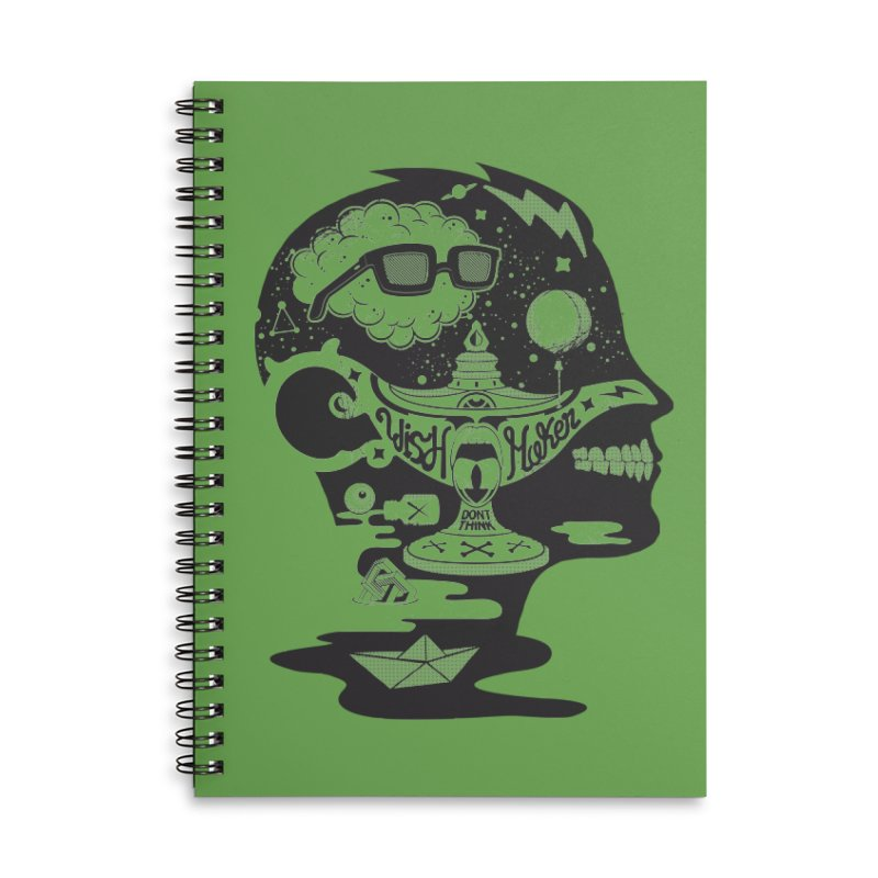 WISH MAKER Accessories Lined Spiral Notebook by kukulcanvas's Artist Shop