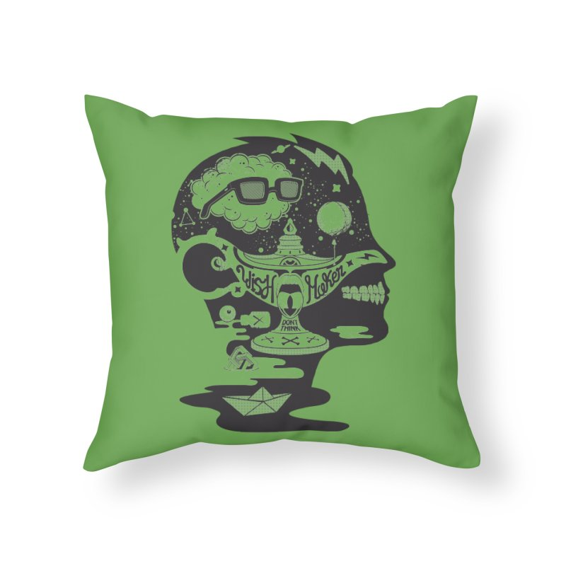 WISH MAKER Home Throw Pillow by kukulcanvas's Artist Shop