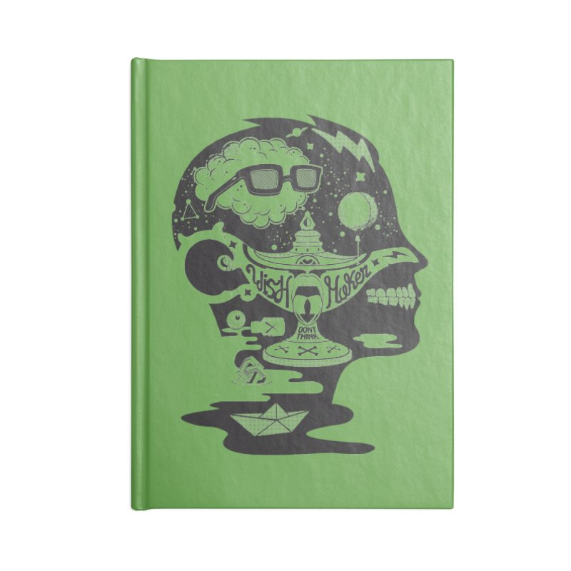 WISH MAKER Accessories Blank Journal Notebook by kukulcanvas's Artist Shop