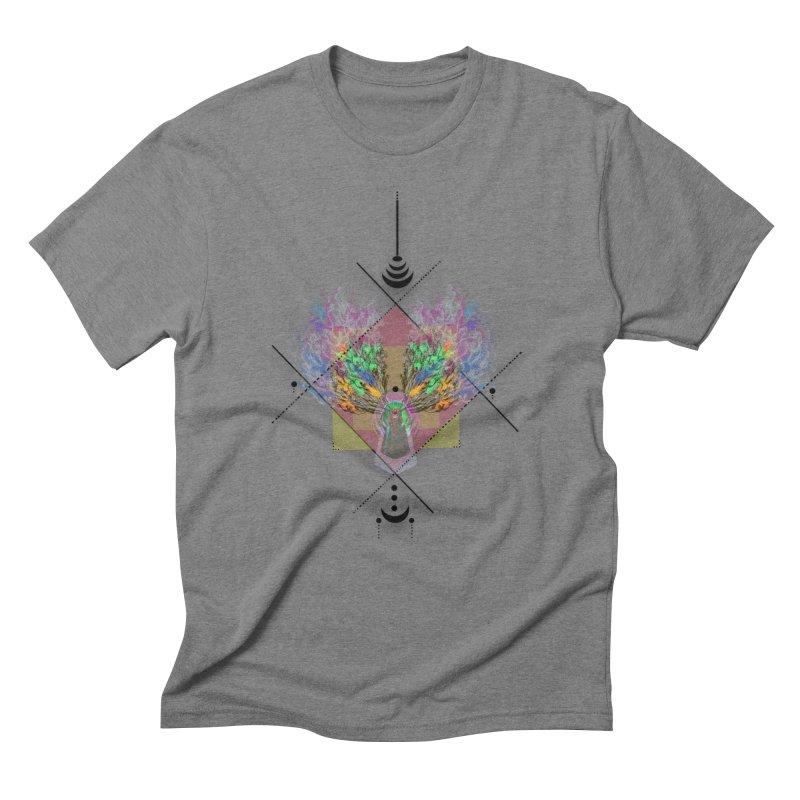 moon duck doodle smokes Men's Triblend T-Shirt by kumpast's Artist Shop