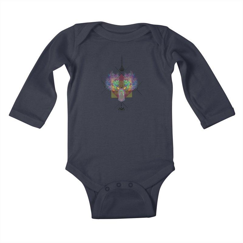 moon duck doodle smokes Kids Baby Longsleeve Bodysuit by kumpast's Artist Shop