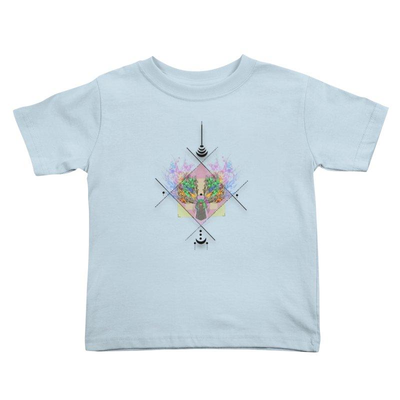 moon duck doodle smokes Kids Toddler T-Shirt by kumpast's Artist Shop