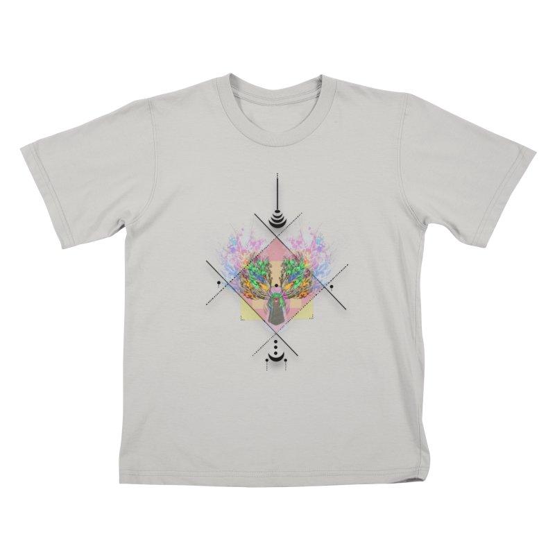 moon duck doodle smokes Kids T-Shirt by kumpast's Artist Shop