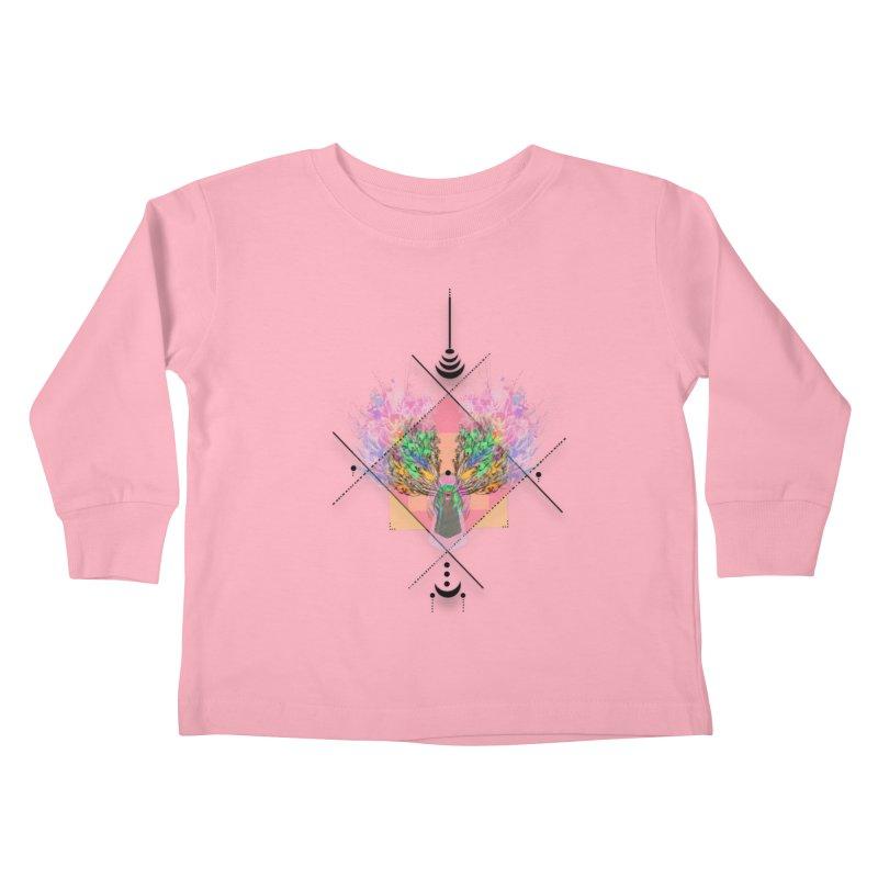 moon duck doodle smokes Kids Toddler Longsleeve T-Shirt by kumpast's Artist Shop