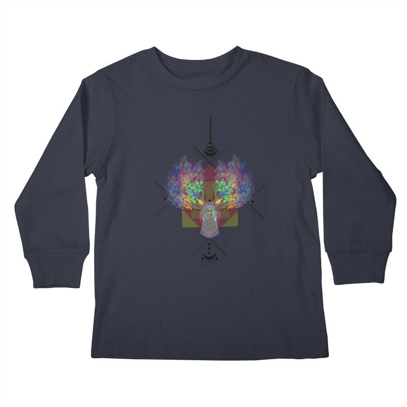 moon duck doodle smokes Kids Longsleeve T-Shirt by kumpast's Artist Shop