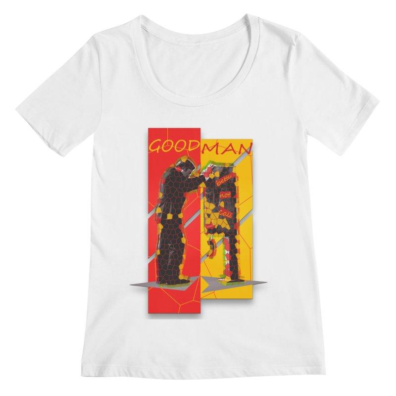 saul goodman Women's Scoopneck by kumpast's Artist Shop