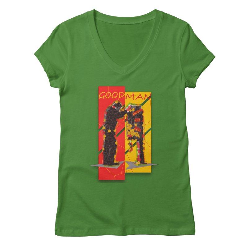 saul goodman Women's V-Neck by kumpast's Artist Shop