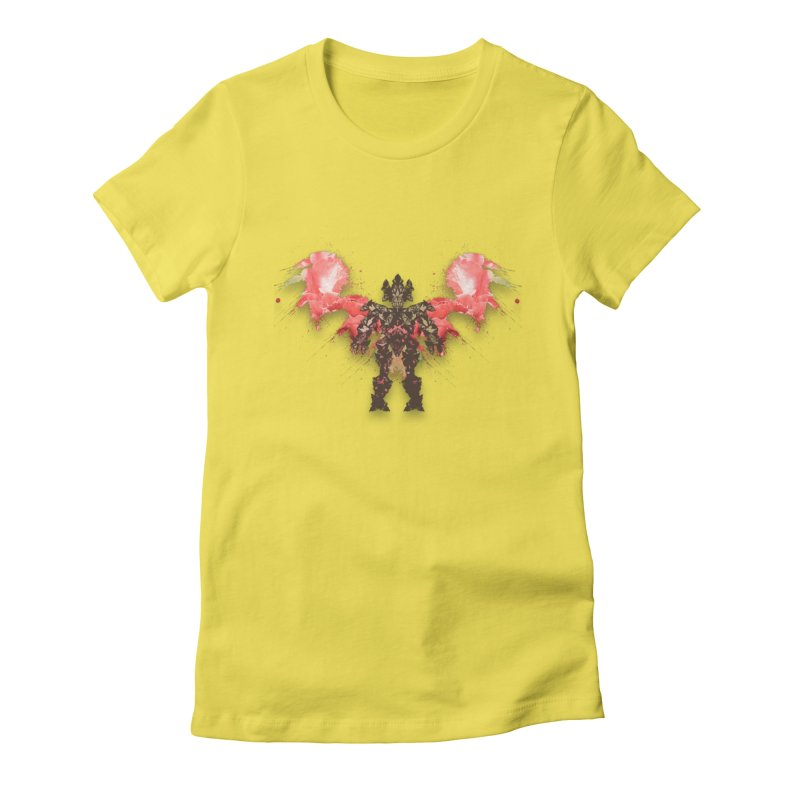 rosey wingsuit boot Women's Fitted T-Shirt by kumpast's Artist Shop
