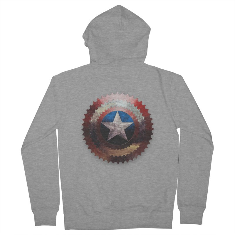captain bike  Men's Zip-Up Hoody by kumpast's Artist Shop